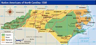 carolina indian tribes map map