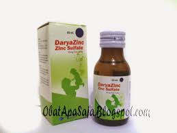 Obat Zinc daryazinc zinc sulfate kandungan indikasi efek sing kontra