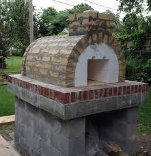 skelton family wood fired outdoor brick pizza oven