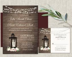country wedding invitations sunflower wedding invitation rustic lantern country wedding