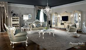 The Living Room Salon Classic Salon With Furniture Decorated With Gold And Silver Leaf