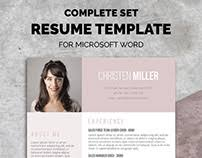 free resume templates for word on behance