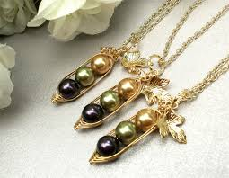 3 Peas In A Pod Jewelry Set Of 3 Three Peas In A Pod Necklaces Bff Best Friends