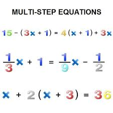 what are multi step equations and how can be solved free math