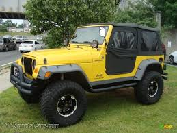 yellow jeep 2005 jeep wrangler sport 4x4 in solar yellow 374639