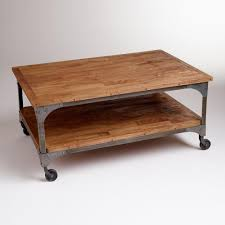 wood and metal aiden coffee table coffee metals and woods