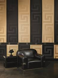 black greek key wallpaper versace home