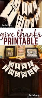 give thanks banner diy like like