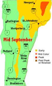 vt fall foliage u0027s progression 5 maps