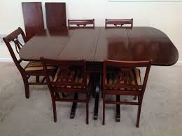 Drop Leaf Dining Table And Chairs Craddock Furniture Duncan Phyfe Mahogany Drop Leaf Dining Set