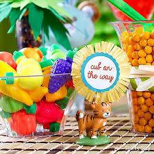 baby shower treats jungle theme baby shower treats table idea party city