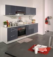 four de cuisine cuisine meuble de cuisine contemporain pour four cm blanc gris