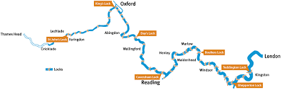 Map Of Oxford England by River Thames Conditions