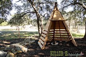Backyard Teepee Cedar Play Teepee A How To Killer B Designs