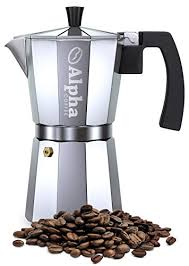 Commercial Grade Coffee Grinder Alpha Coffee Moka Pot 6 Cup Stovetop Espresso Maker Italian