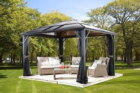 Patio Gazebo Lowes by Gazebo Ideas Aluminum Roof Gazebo Picture With Outdoor Canopy