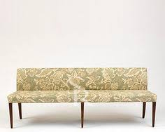 platinum upholstered dining bench in vance bermuda and fossil