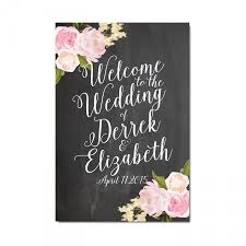 large wedding sign printable vintage wedding floral wedding