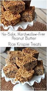no bake peanut butter rice krispie treats recipe the good mama