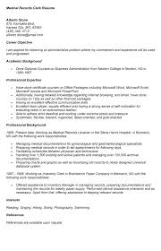 Sample Resume For Clerical by Coder Resume Medical Records Resume Medical Records Resume Sample