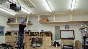 How To Build Garage Storage Shelf by Diy Build High Garage Storage Shelves