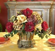 dining table silk flower dining table centerpieces arrangements