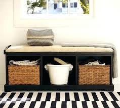 Mudroom Bench With Storage Coaster Entryway Bench With Storage Baskets And Cushions Hampton