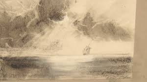 ocean the sun u0027s rays through the clouds sketch marine paintings