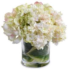 hydrangea bouquet pink green hydrangea bouquet transitional artificial flower