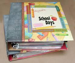 school days keepsake album binders for school papers keepsakes use clear page protectors