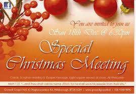 Meeting Invitation Card Growell Gospel Hall Christmas Meeting 18 Dec 2011
