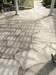 Dry Laid Flagstone Patio Before U0026 After Photo Galleries Landscaping Lawn Mowing