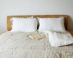 Off White Duvet Cover King Striped Linen Duvet Cover Off White And Natural Linen Stone