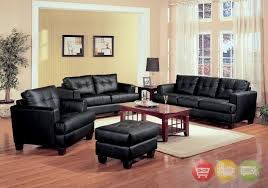 Leather Sofa And Chair Sets Black Leather Living Room Set With Black Leather Living Room