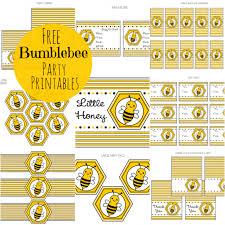 free bumble bee printable set extras u2013 printables for kids