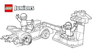 lego juniors race car pit stop coloring page coloring pages