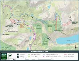 Castle Rock State Park Map by Donner Lake Rim Trail Truckee Donner Land Trust