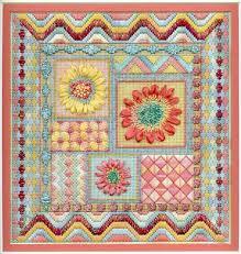 terry dryden needlework designs summer garden collage