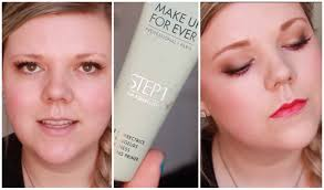new make up for ever step1 primer review and demo youtube