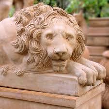 lion statue lion statue seibert rice italian terra cotta from impruneta