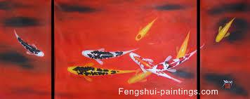 koi painting koi fish painting feng shui fish painting