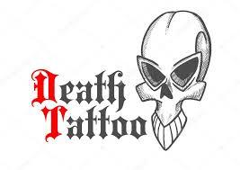 sketched skull of ancient monster or demon u2014 stock vector