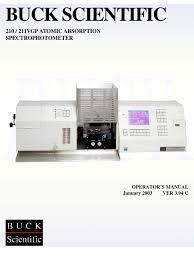buck 210 211 users manual atomic absorption spectroscopy oxygen