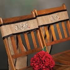 Burlap Chair Sash Burlap Chair Sash Mr And Mrs On Sale At The Wedding Shoppe Canada