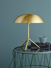 brushed gold bloomingville tripod table l brushed gold brass living and co