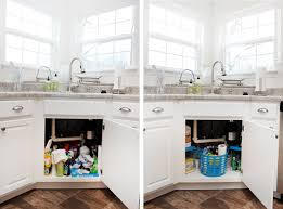 how to organize under your kitchen sink how to nest for less