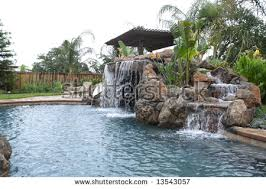 Waterfall Backyard Backyard Waterfall Stock Images Royalty Free Images U0026 Vectors