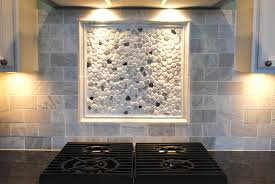 river rock backsplash kitchen great home decor unique decor