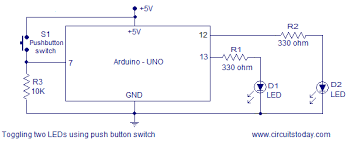 simple led based projects using arduino with circuit diagram and codes