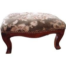 Queen Anne Style by Vintage Queen Anne Style Footstool From Cheznous On Ruby Lane